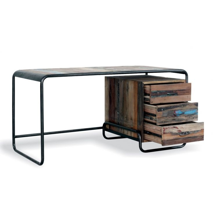 Reclaimed Wood Computer Desk Office Smithers of Stamford £ 885.00 Store UK, US, EU