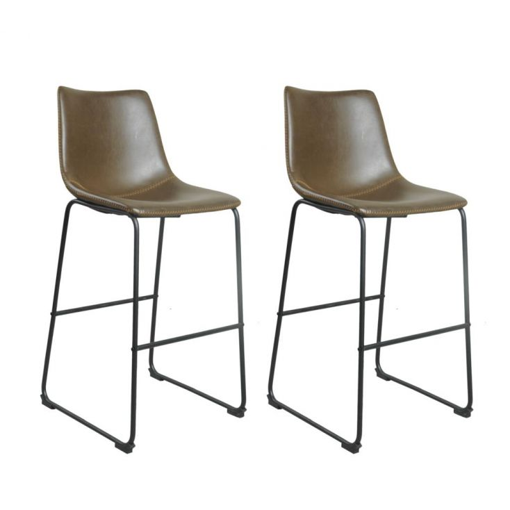 Faux Leather Bar Stool Industrial Furniture Smithers of Stamford £ 273.00 Store UK, US, EU, AE,BE,CA,DK,FR,DE,IE,IT,MT,NL,NO,...