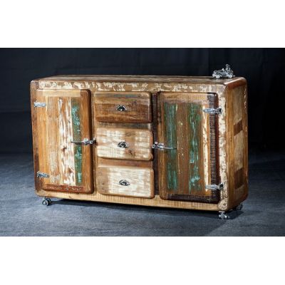 Fridge Reclaimed Wood Sideboard
