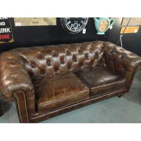 Vintage Leather 2 Seater Chesterfield Sofa Smithers Archives Smithers of Stamford £ 1,984.00 Store UK, US, EU, AE,BE,CA,DK,FR...