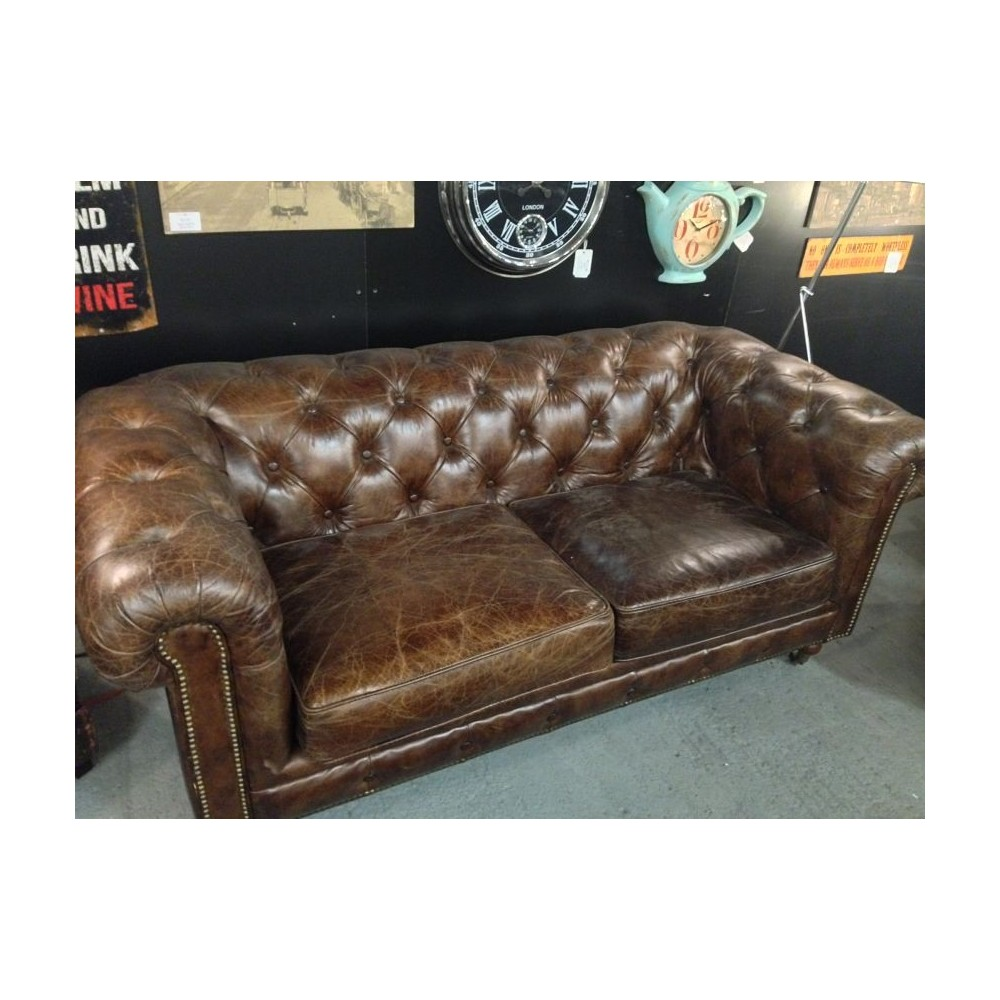 Furniture Store In Stamford Ct: Buy Vintage Italian Leather Chesterfield Sofa At Smithers