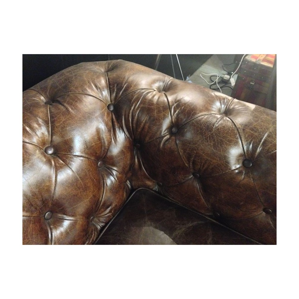 Superb Vintage Leather 2 Seater Chesterfield Sofa Download Free Architecture Designs Aeocymadebymaigaardcom