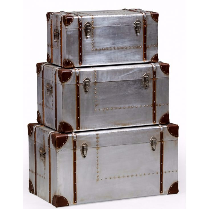Industrial Metal Trunk Aviation Furniture Smithers of Stamford £ 290.00 Store UK, US, EU