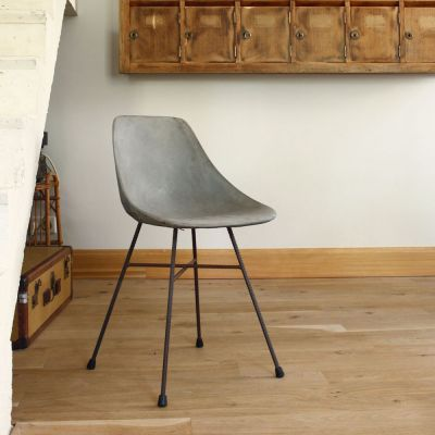 Concrete Dining Chair Industrial Furniture £ 449.00 Store UK, US, EU, AE,BE,CA,DK,FR,DE,IE,IT,MT,NL,NO,ES,SE