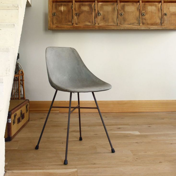 Concrete Dining Chair Industrial Furniture £ 493.00 Store UK, US, EU, AE,BE,CA,DK,FR,DE,IE,IT,MT,NL,NO,ES,SE