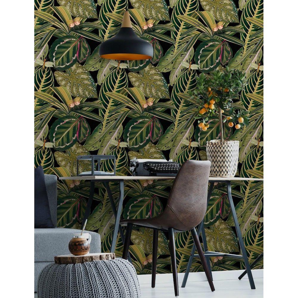 Jungle Wallpaper   Green Leaf Wallpaper For Walls