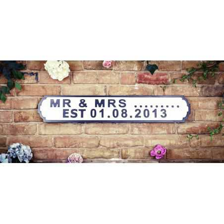 Personalised Road Signs Retro Signs Smithers of Stamford £90.00 Store UK, US, EU, AE,BE,CA,DK,FR,DE,IE,IT,MT,NL,NO,ES,SE
