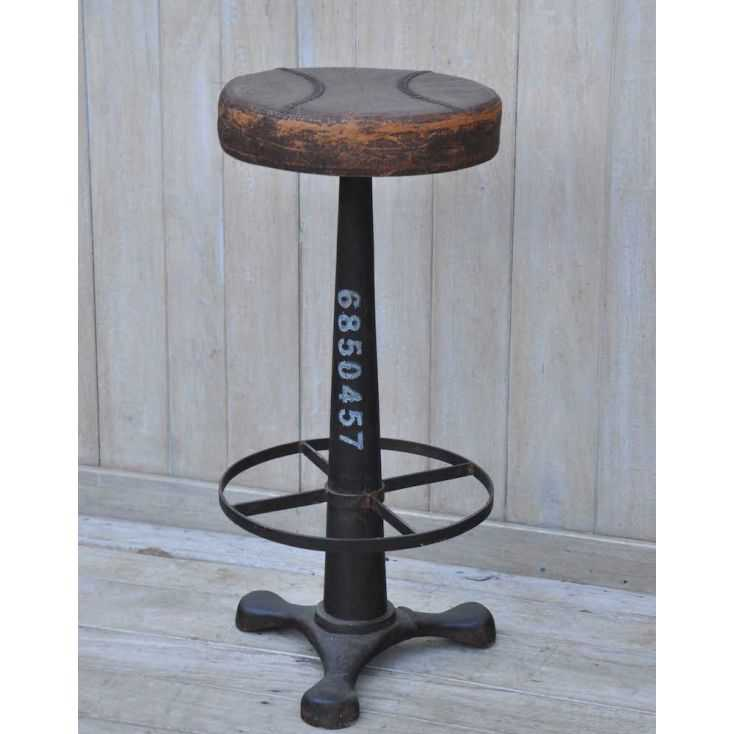 Industrial Bar Stool With Foot Rest