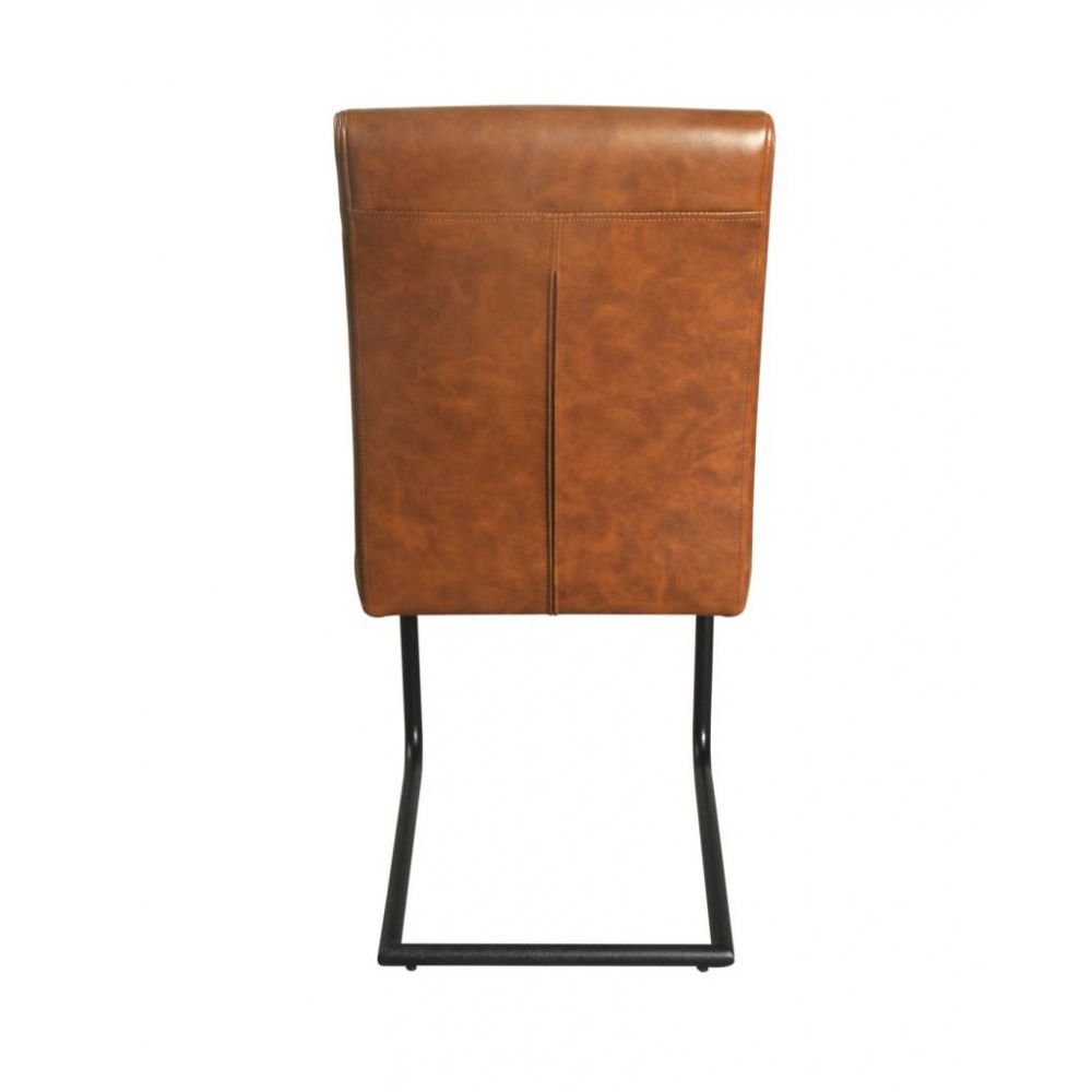 Tan Leather Dining Chair Industrial Vintage Uk