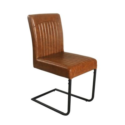 Tan Leather Dining Chair