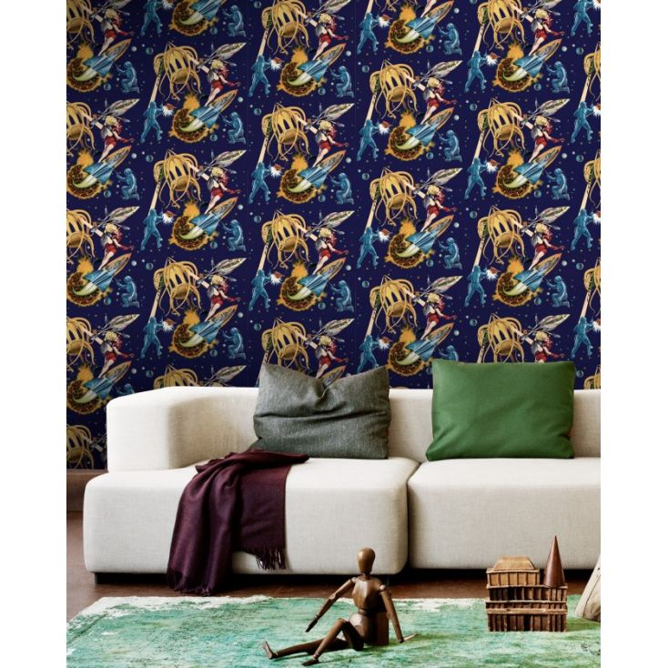 Space Retro Wallpaper Wallpaper Smithers of Stamford £ 150.00 Store UK, US, EU, AE,BE,CA,DK,FR,DE,IE,IT,MT,NL,NO,ES,SE
