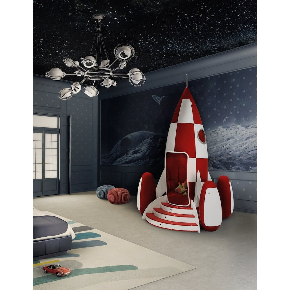 Rocket Chair Outer Space Bedroom Ideas
