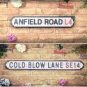 Football Street Signs