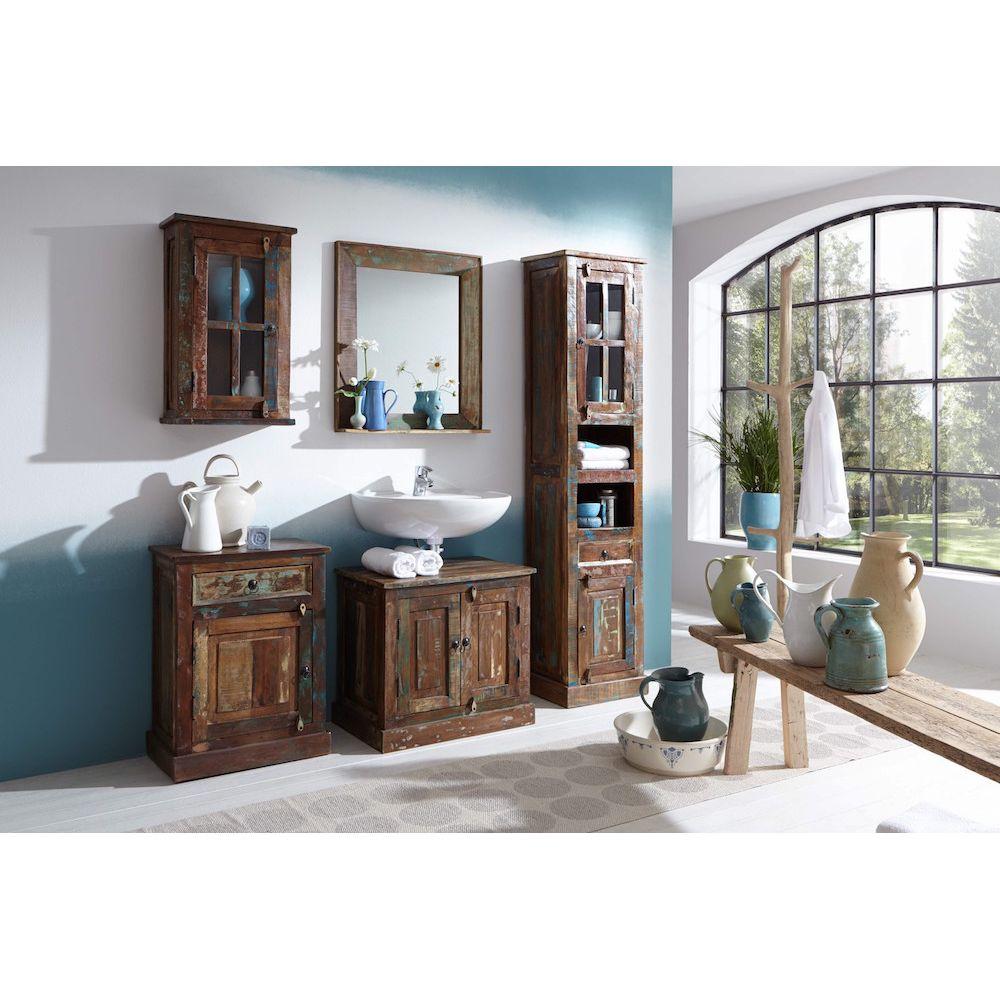 Reclaimed Wood Wall Cabinet Bathroom or Kitchen