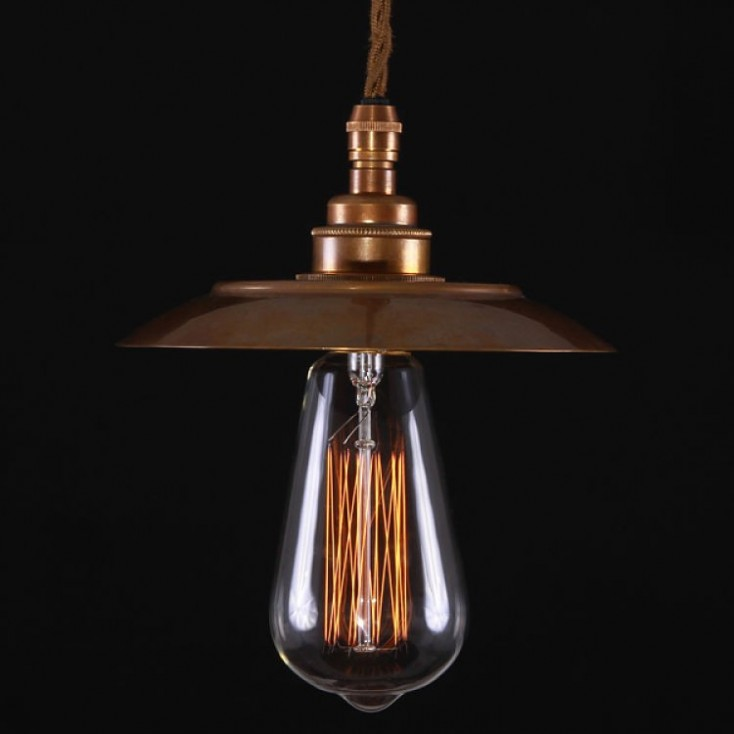 Bugsy Antiqued Pendant Light