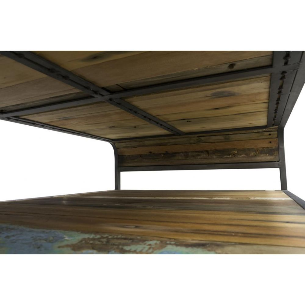 Reclaimed Wood Recycled Coffee Table With Storage
