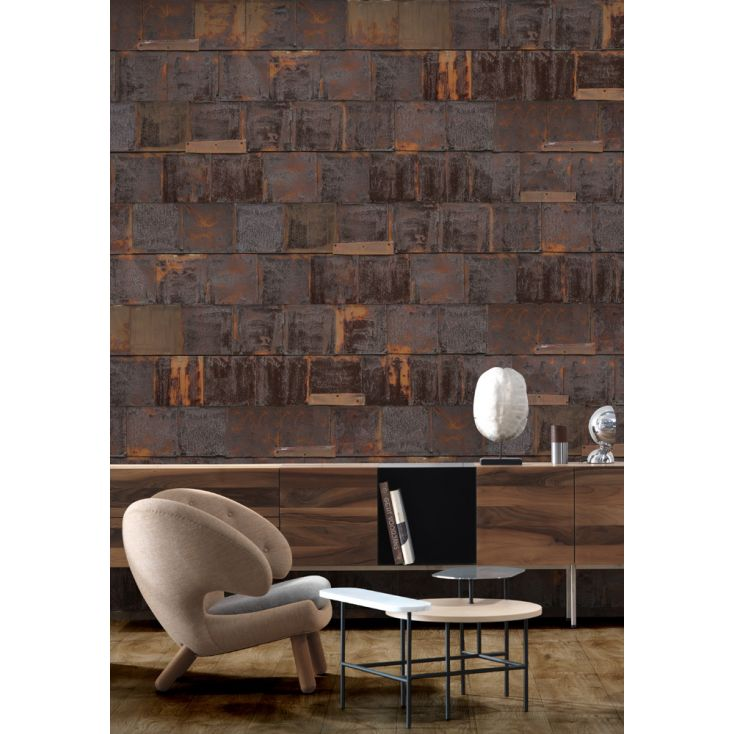Rusty Metal Wallpaper Wallpaper Smithers of Stamford £ 210.00 Store UK, US, EU, AE,BE,CA,DK,FR,DE,IE,IT,MT,NL,NO,ES,SE