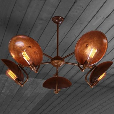 Industrial Chandelier Vintage Lighting Smithers of Stamford 1,150.00 Store UK, US, EU