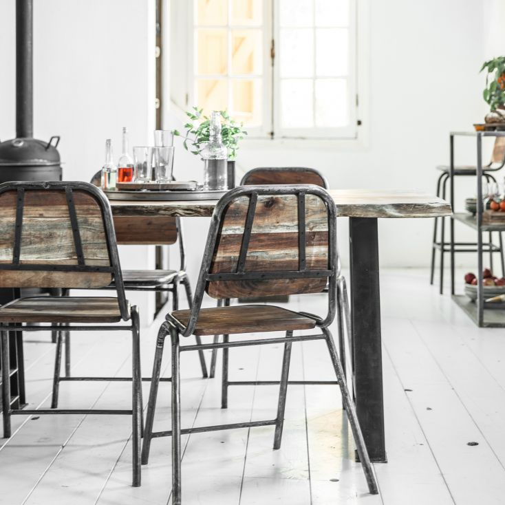 Loft Industrial Dining Chair Reclaimed Wood Furniture Smithers of Stamford £ 170.00 Store UK, US, EU, AE,BE,CA,DK,FR,DE,IE,IT...
