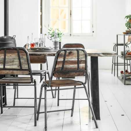 Loft Industrial Dining Chair Reclaimed Wood Furniture Smithers of Stamford £ 215.00 Store UK, US, EU, AE,BE,CA,DK,FR,DE,IE,IT...