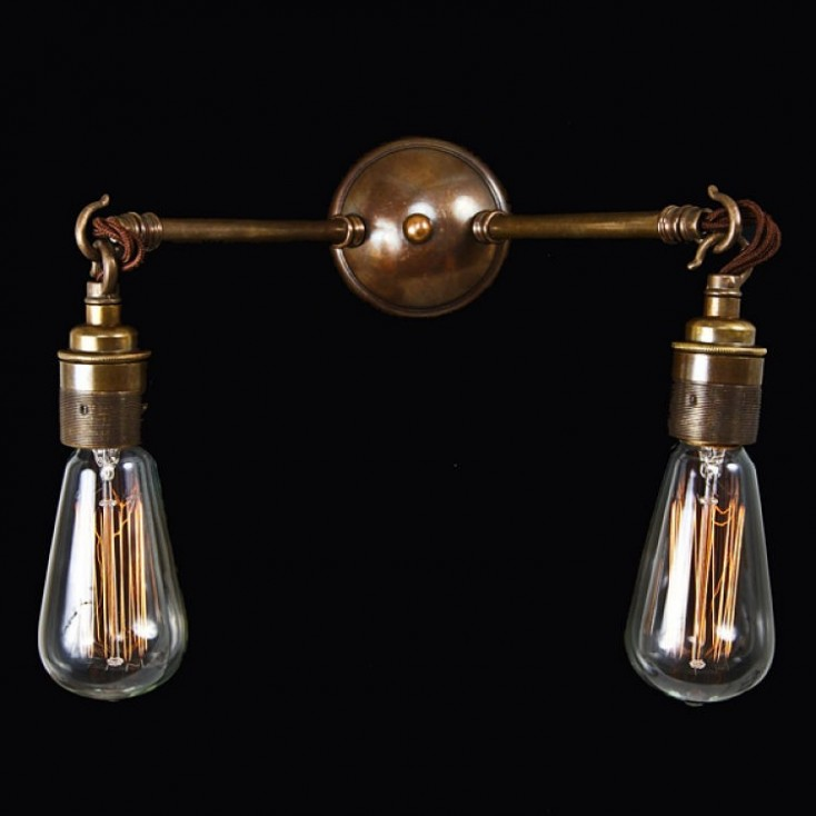 Bugsy Antiqued Industrial Double Light