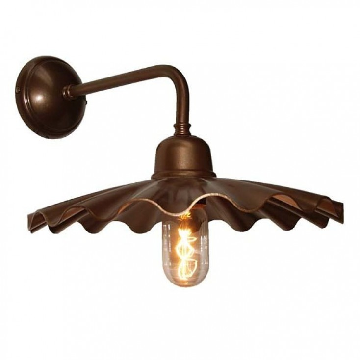Bugsy Antiqued Industrial Wall Light