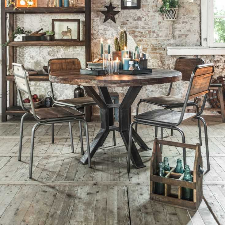 Dining Tables For Pub Restaurant, Round Reclaimed Dining Table
