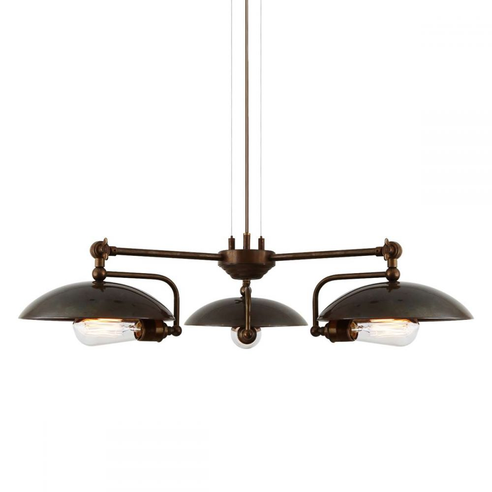 Bjvb Three Vintage Industrial Wood Pendant Lamp Bedroom: Vintage Brass &Silver