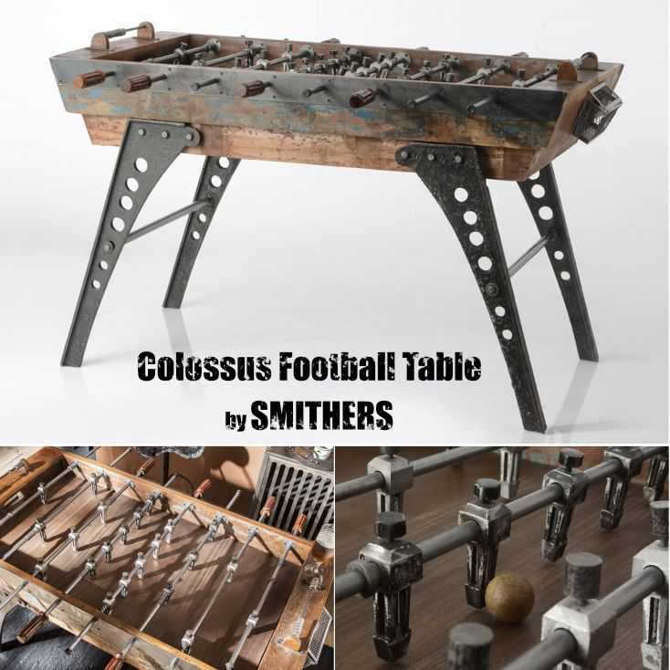 Industrial Football Table Recycled Wood Furniture  £ 2,950.00 Store UK, US, EU, AE,BE,CA,DK,FR,DE,IE,IT,MT,NL,NO,ES,SE
