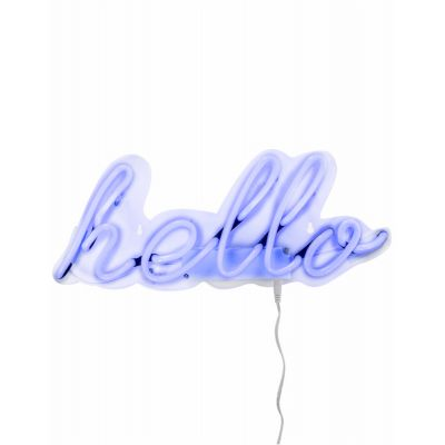 Hello Neon Sign Vintage Lighting Seletti £ 59.00 Store UK, US, EU, AE,BE,CA,DK,FR,DE,IE,IT,MT,NL,NO,ES,SE