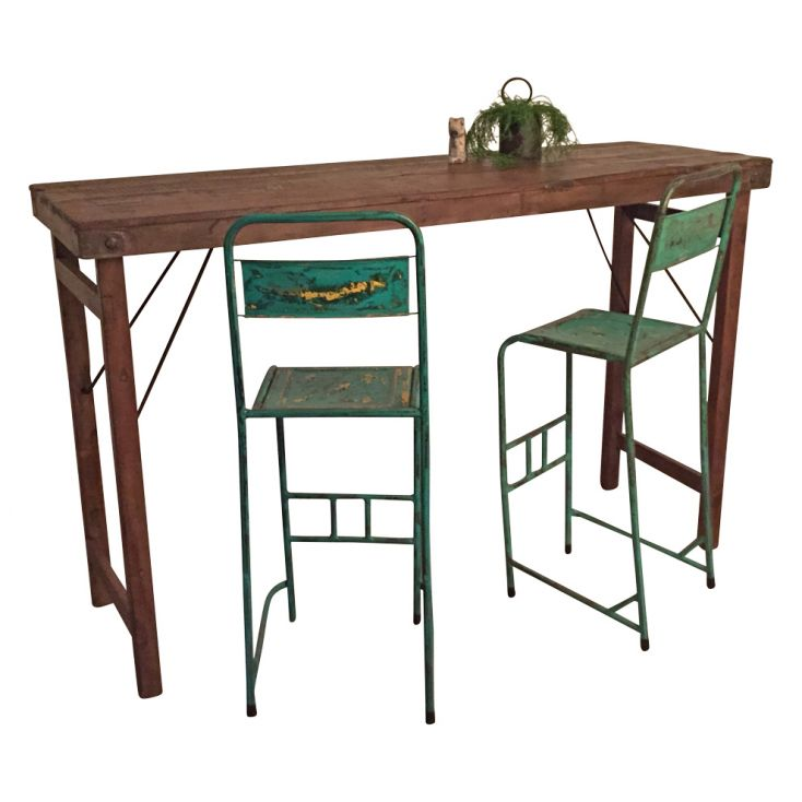 Folding Reclaimed Wood Bar Table Industrial Furniture Smithers of Stamford £ 590.00 Store UK, US, EU, AE,BE,CA,DK,FR,DE,IE,IT...