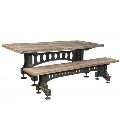 Officers Mess Vintage Industrial Dining Table