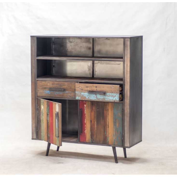 New York Loft Drum Cabinet Reclaimed Wood Furniture Smithers of Stamford £ 1,454.00 Store UK, US, EU, AE,BE,CA,DK,FR,DE,IE,IT...