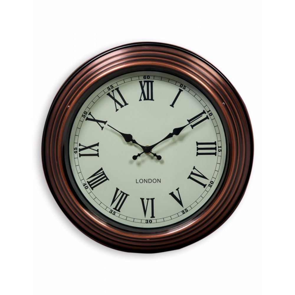 copper wall clock large small. Black Bedroom Furniture Sets. Home Design Ideas