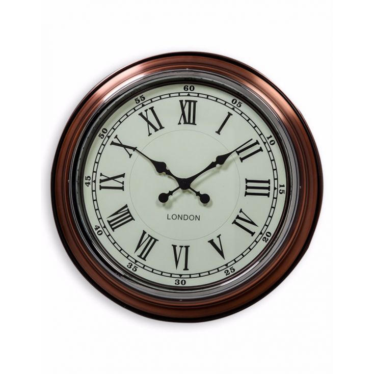 Copper Wall Clock Vintage Clocks Smithers of Stamford £ 95.00 Store UK, US, EU, AE,BE,CA,DK,FR,DE,IE,IT,MT,NL,NO,ES,SE