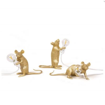 Gold Mouse Lamp