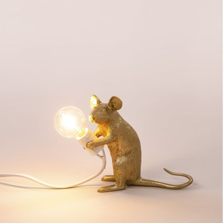 Gold Mouse Lamp Seletti Seletti £ 80.00 Store UK, US, EU, AE,BE,CA,DK,FR,DE,IE,IT,MT,NL,NO,ES,SE