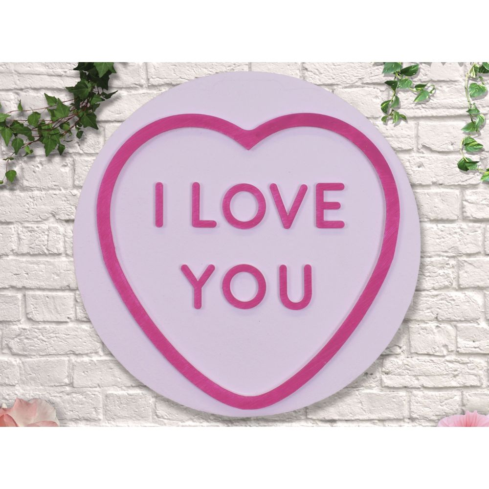 Love Heart Sweets Wall Signs