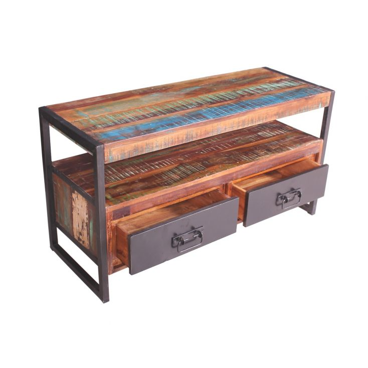 Lowboard Tv Cabinet Reclaimed Wood Furniture £ 620.00 Store UK, US, EU
