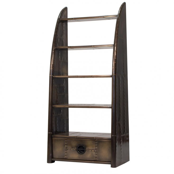 Spitfire Brass Bookcase Aviation Furniture Smithers of Stamford 1,713.00 Store UK, US, EU, AE,BE,CA,DK,FR,DE,IE,IT,MT,NL,NO,E...