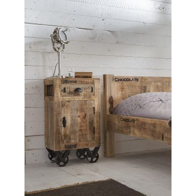 Menier Chocolate Factory Wood Bedside Table
