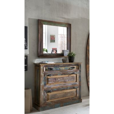 River Thames Reclaimed Wood Mirror