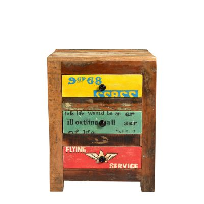 Speedway Bedside Drawers Reclaimed Wood Furniture Smithers of Stamford £ 300.00 Store UK, US, EU