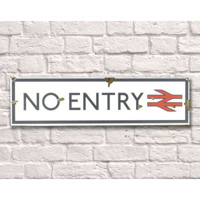 No Entry Sign Retro Signs Smithers of Stamford £ 35.00 Store UK, US, EU, AE,BE,CA,DK,FR,DE,IE,IT,MT,NL,NO,ES,SE