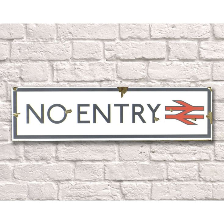 No Entry Sign Retro Signs Smithers of Stamford £ 28.00 Store UK, US, EU
