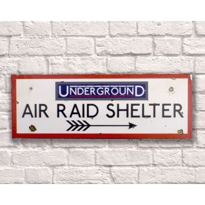 Underground Air Raid Shelter Sign Retro Signs Smithers of Stamford £ 35.00 Store UK, US, EU, AE,BE,CA,DK,FR,DE,IE,IT,MT,NL,NO...