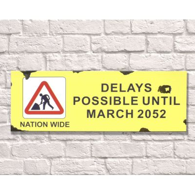 Road Works Sign Retro Signs Smithers of Stamford £ 28.00 Store UK, US, EU, AE,BE,CA,DK,FR,DE,IE,IT,MT,NL,NO,ES,SE