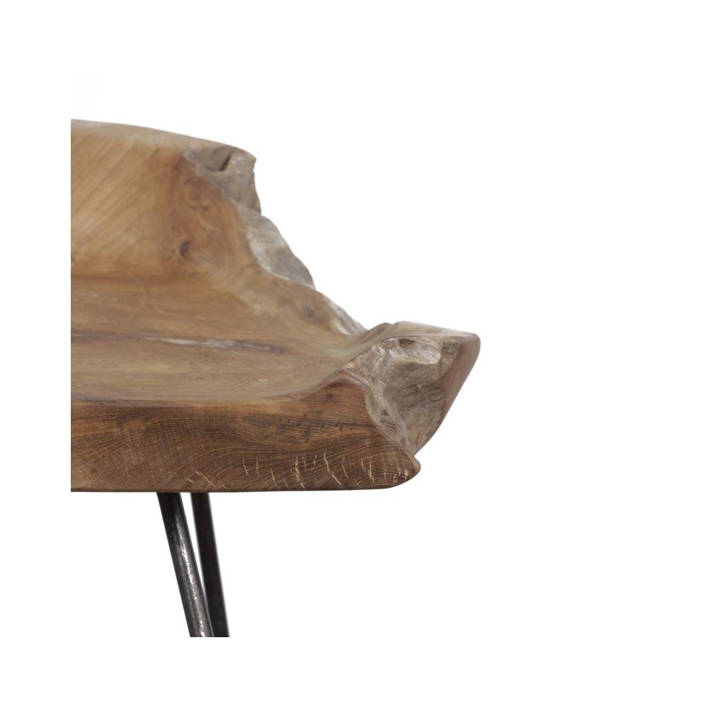 Natural Teak Root Tree Wood High Bar Stool Chair 86 Cm