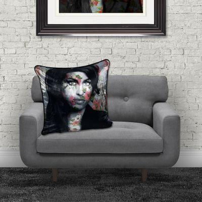 Amy Winehouse Cushion Cushions £ 50.00 Store UK, US, EU, AE,BE,CA,DK,FR,DE,IE,IT,MT,NL,NO,ES,SE
