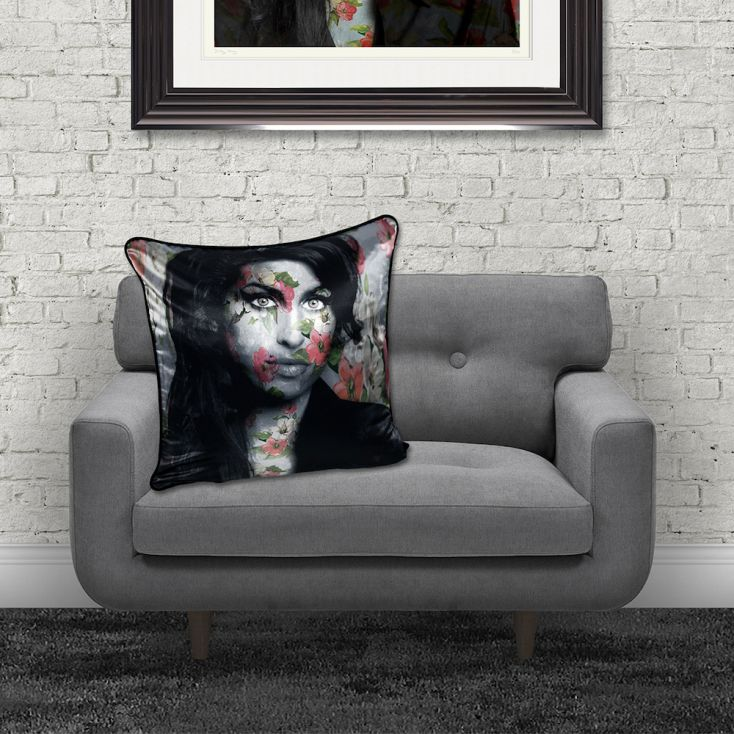 Amy Winehouse Cushion Cushions £ 50.00 Store UK, US, EU, AE,BE,CA,DK,FR,DE,IE,IT,MT,NL,NO,ES,SE